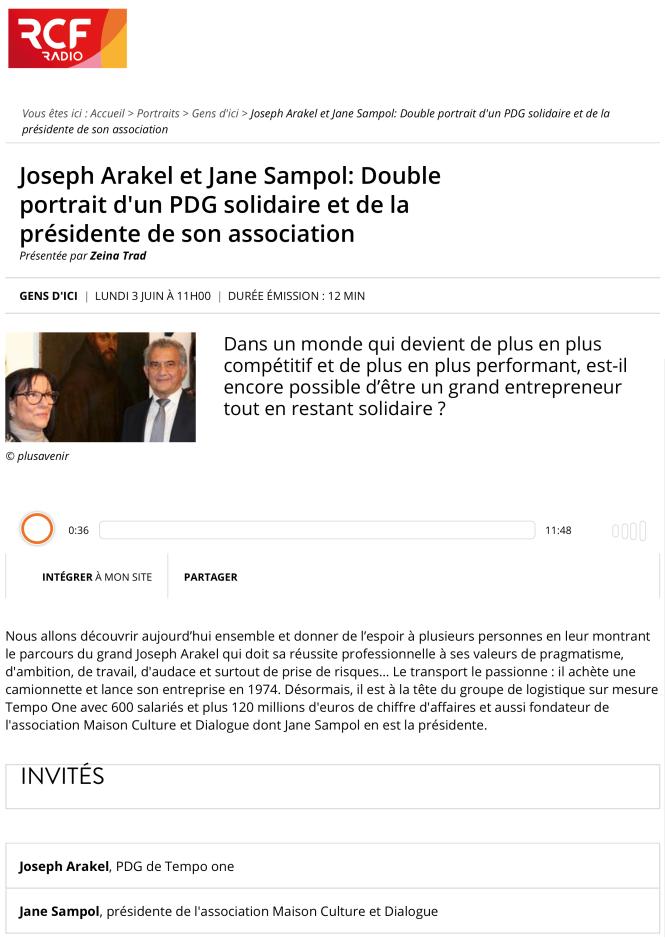Joseph Arakel et Jane Sampol: Double portrait d'un PDG solidaire et de la présidente de son association